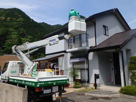 山口市での太陽光発電点検