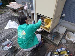 矢野の温水器工事