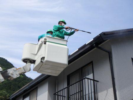 山口市の太陽光発電クリーニング