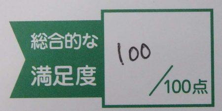 アンケート100点